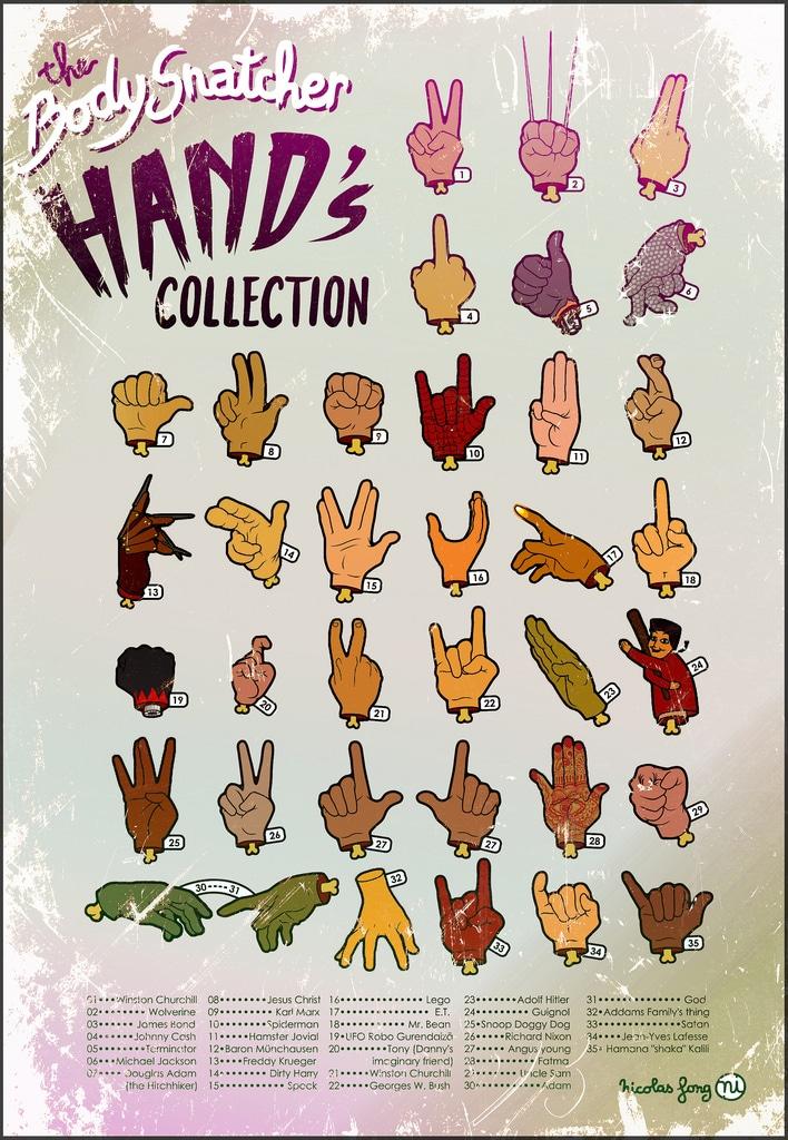 Body Snatcher Legendary Hands Poster