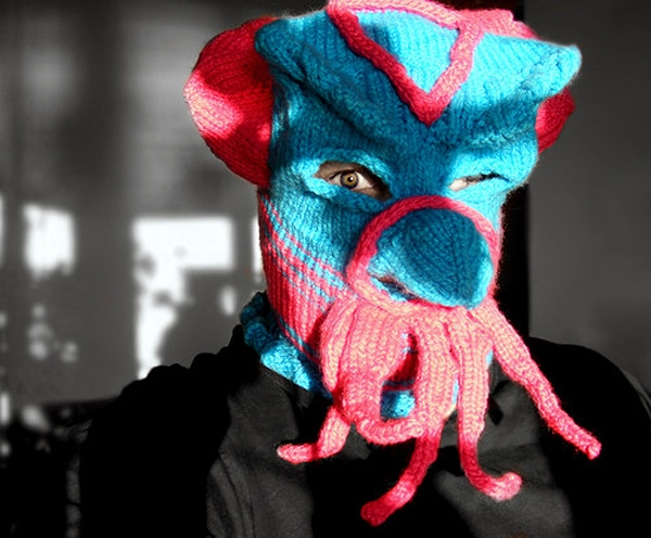 Scary Creepy Knitted Masks