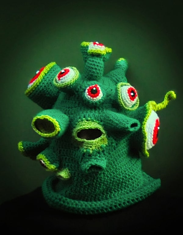 Creepy Scary Knitted Masks