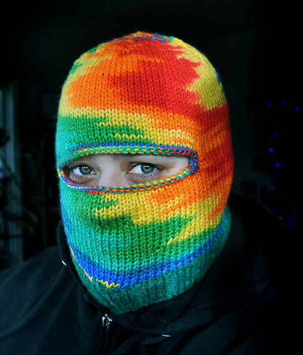 Creepy Colorful Knitted Masks