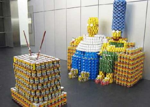 Canstruction: Insanely Retro Canned Food Sculptures