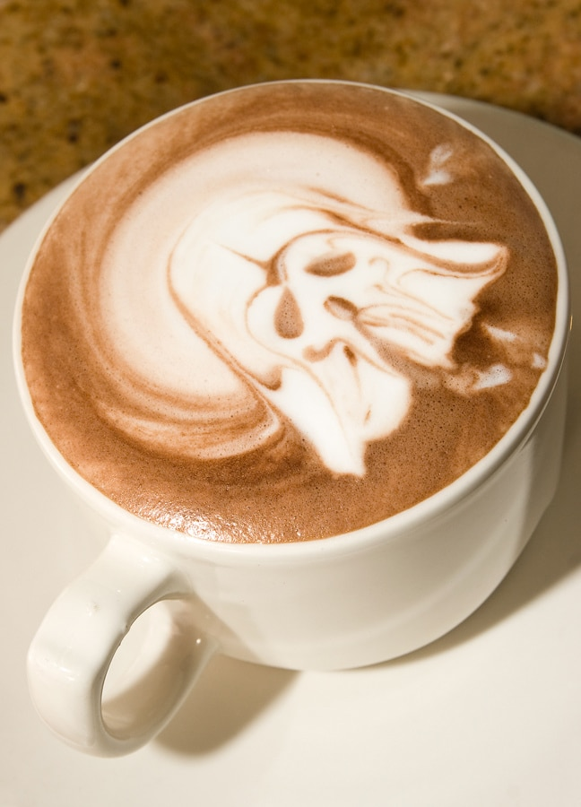 Darth Vader Latte Art Design