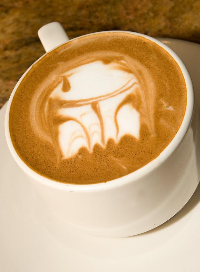 Darth Vader Latte Art Design