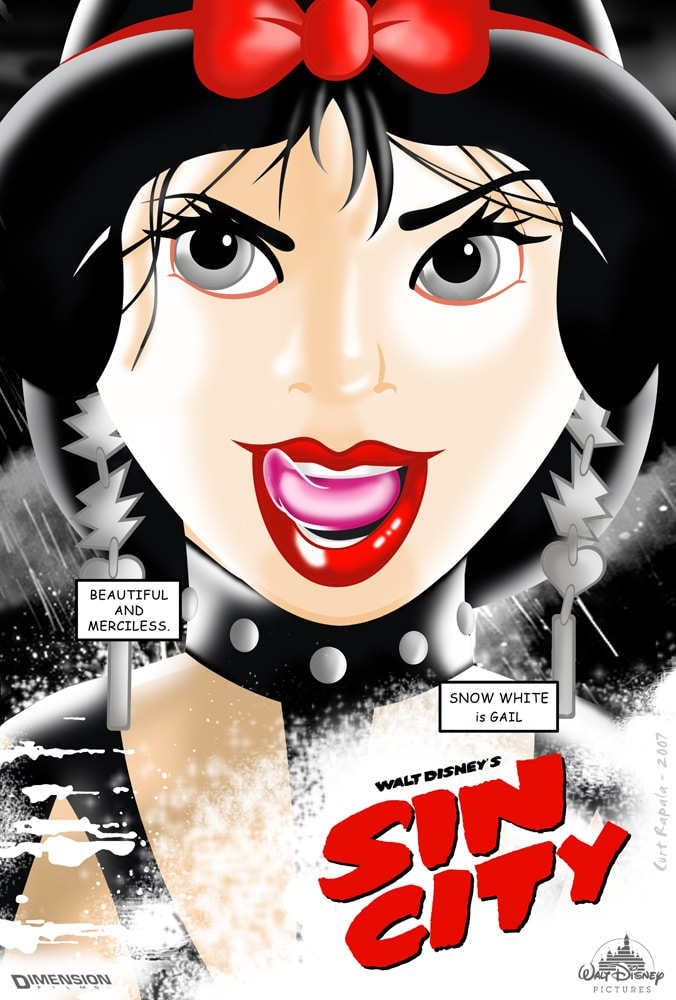 disney princesses funny faces. Sin City Welcomes Disney