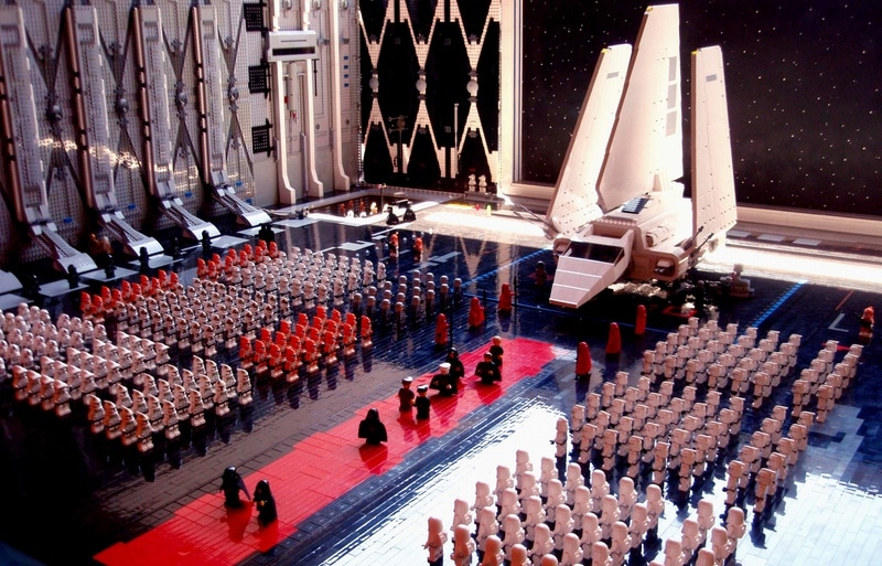 The arrival insane star wars lego diorama