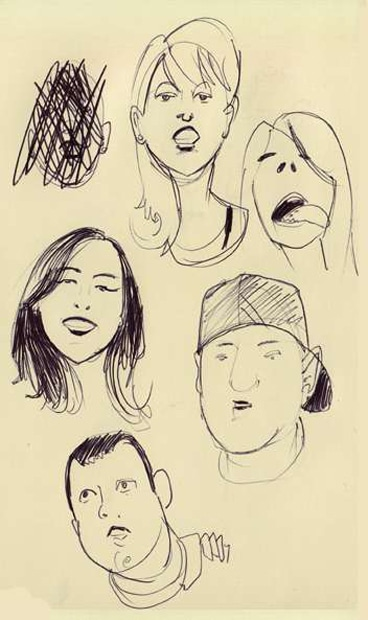 Social Media Art: All Your Facebook Friends Sketched