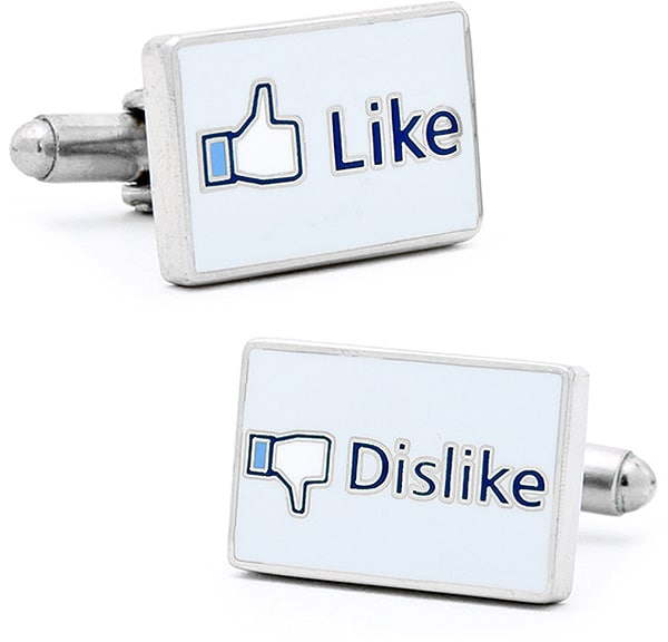 Facebook Cufflinks For Fashionable Facebook Addicts