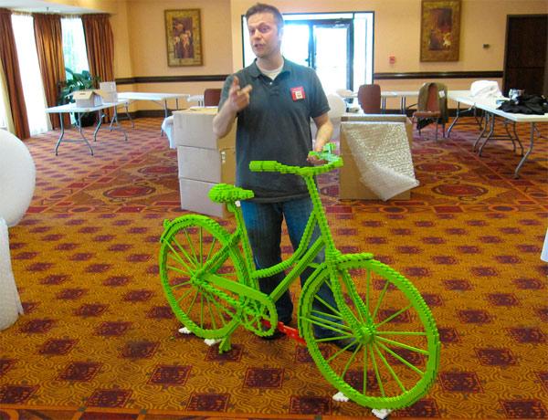 Full Size Lego Bike: Geeks Ride In Style