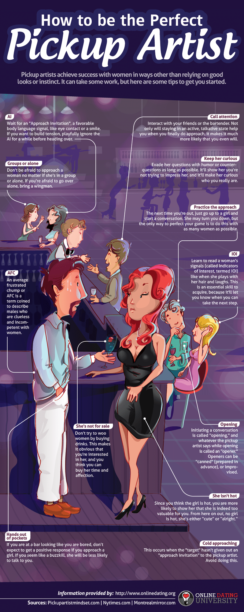 How To Be The Perfect Pickup Artist – The Tricks [Infographic]