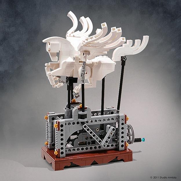 Lego Pegasus Automaton Build