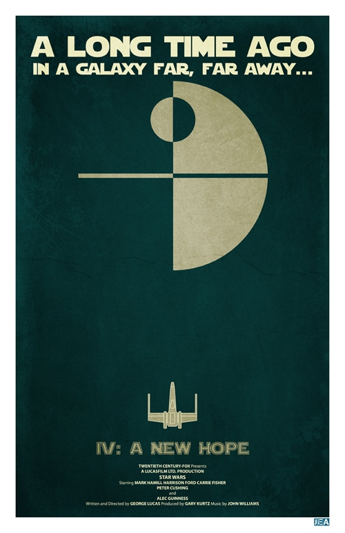 Star wars posters they don't get more minimalistic than this