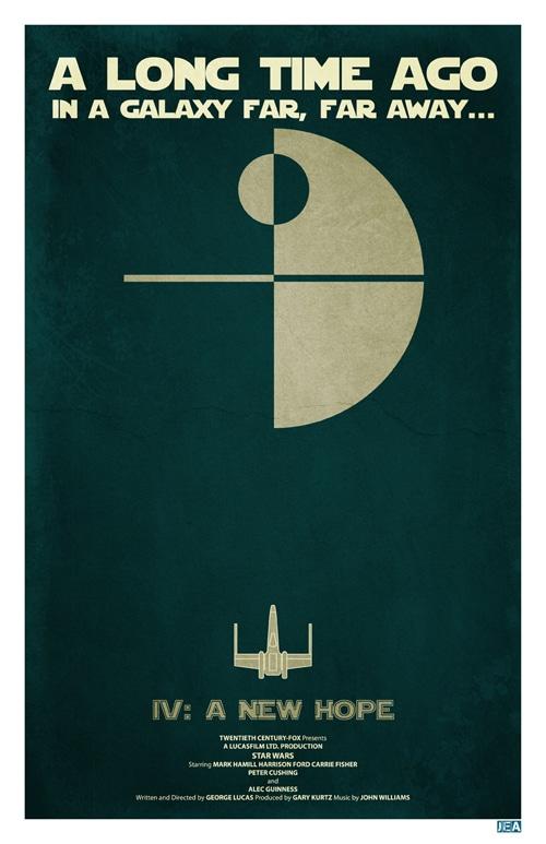 Minimalistic Star Wars Poster Design
