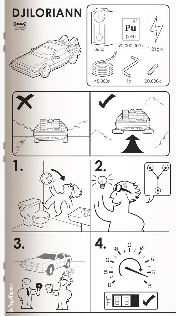 Star Wars, Jurassic Park & More Drawn In IKEA Manuals