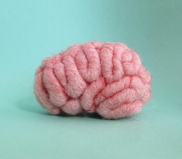 Craft Needle Felt Brain