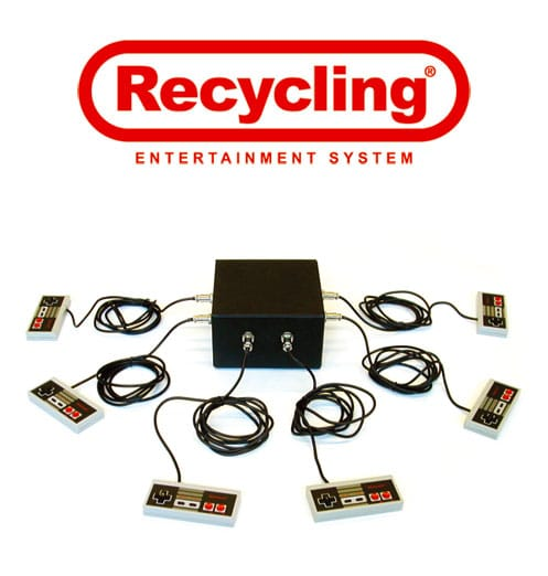 Recycled Nintendo NES Becomes 6 Man Music Jamming Device