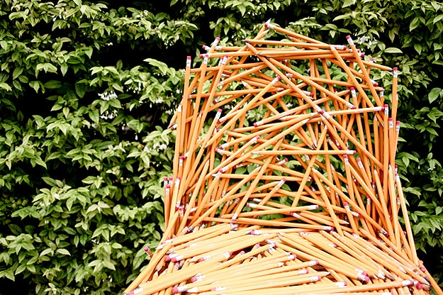 Chair Made From Pencils