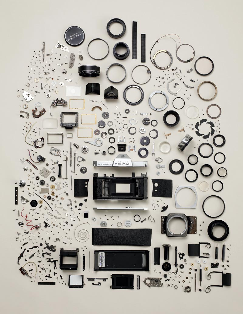 Pentax K1000 Complete Disassemble Poster