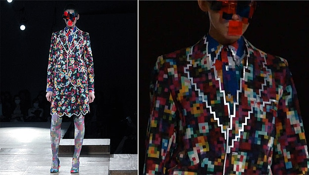 Pixelated Japanese Fashion Show