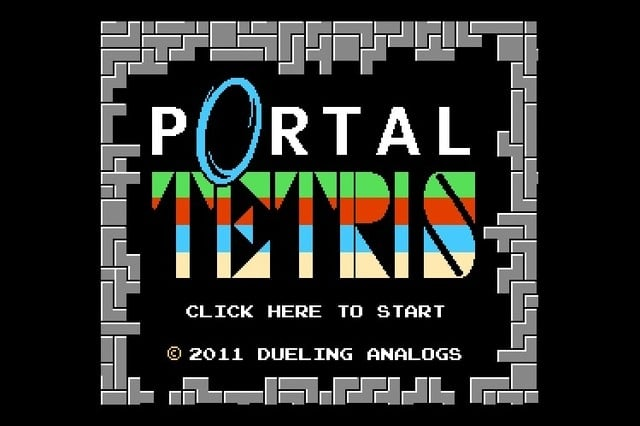 Portal Tetris Unlimited Game Play