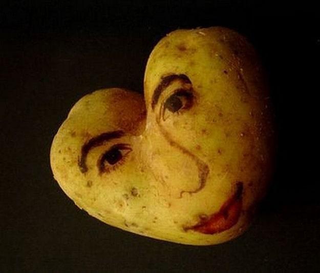 Potato Faces Food Art