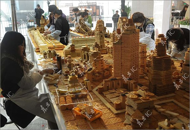 Edible City: Shanghai China Recreated In Bakery Sweets