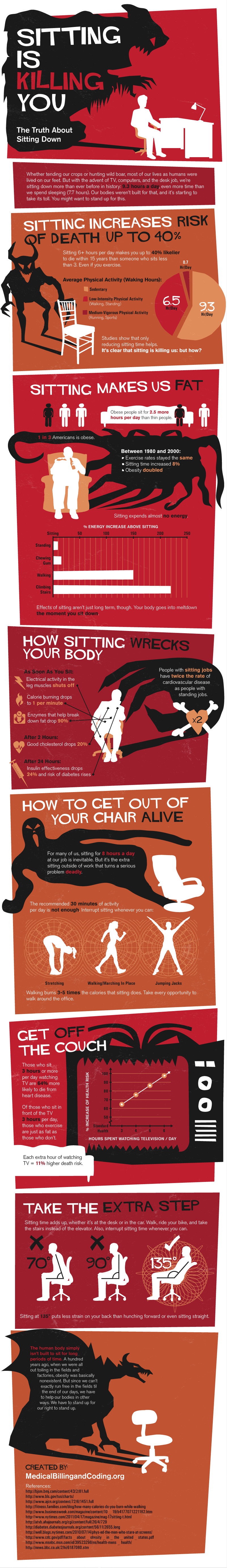 Sitting Down Is Killing You [Infographic]