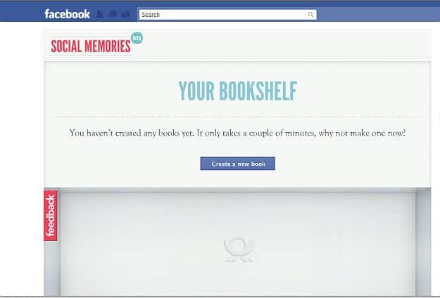 social memories Facebook Application