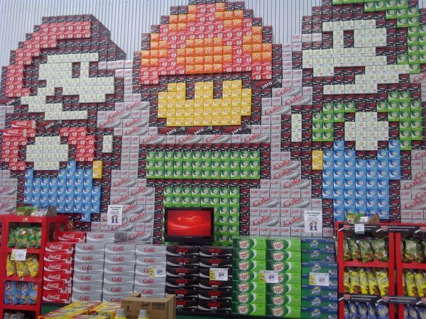 Next Generation Super Mario Packaging Store Displays