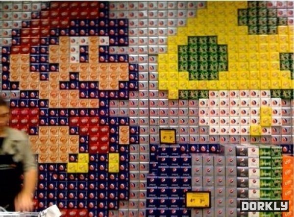 Soda Super Mario Store Displays