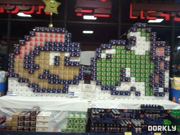 Soda Super Mario Store Displays