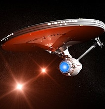 USS Enterprise Star Trek Door