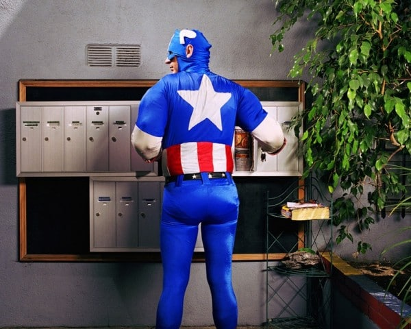 Superheroes At Home Photo Series