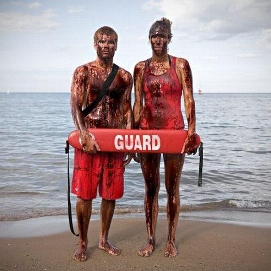 Swimming In BP Oil Spill