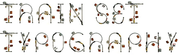 Typography: Alphabet Created From Old Train Set