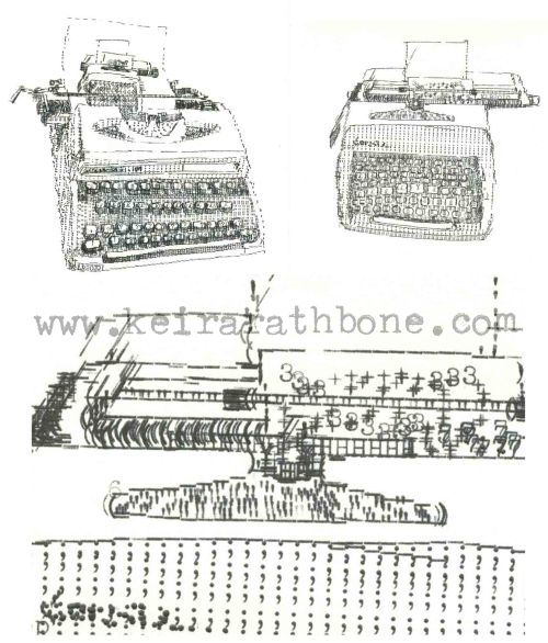 Typewriter ASCII Art Design Concept