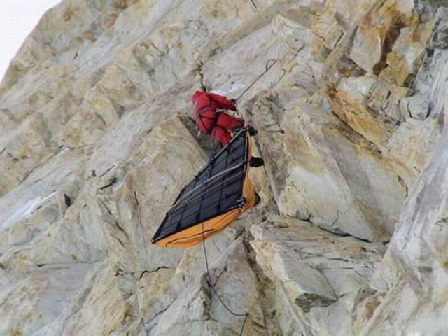Unusual Hiking On Mountain Wall