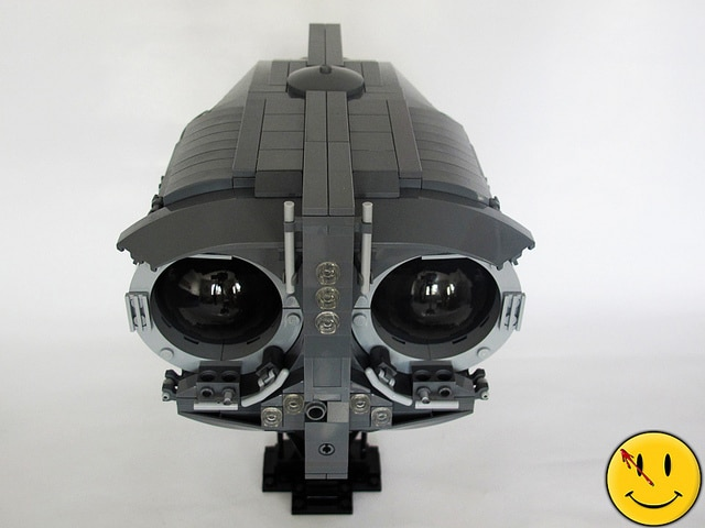 Watchmen Owl Ship Flawlessly Recreated In Lego