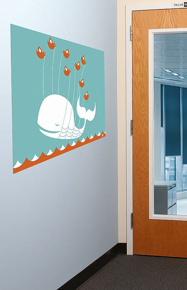 Twitter Whale Wall Graphics