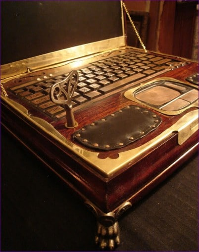 Datamancer Steampunk Victorian Laptop Design