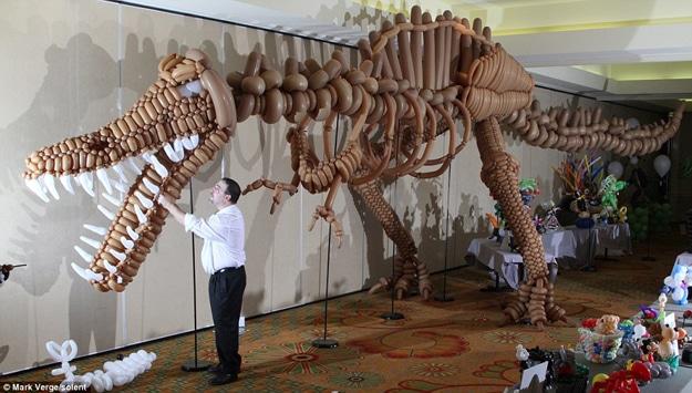Tyrannosaurus Rex In Balloons