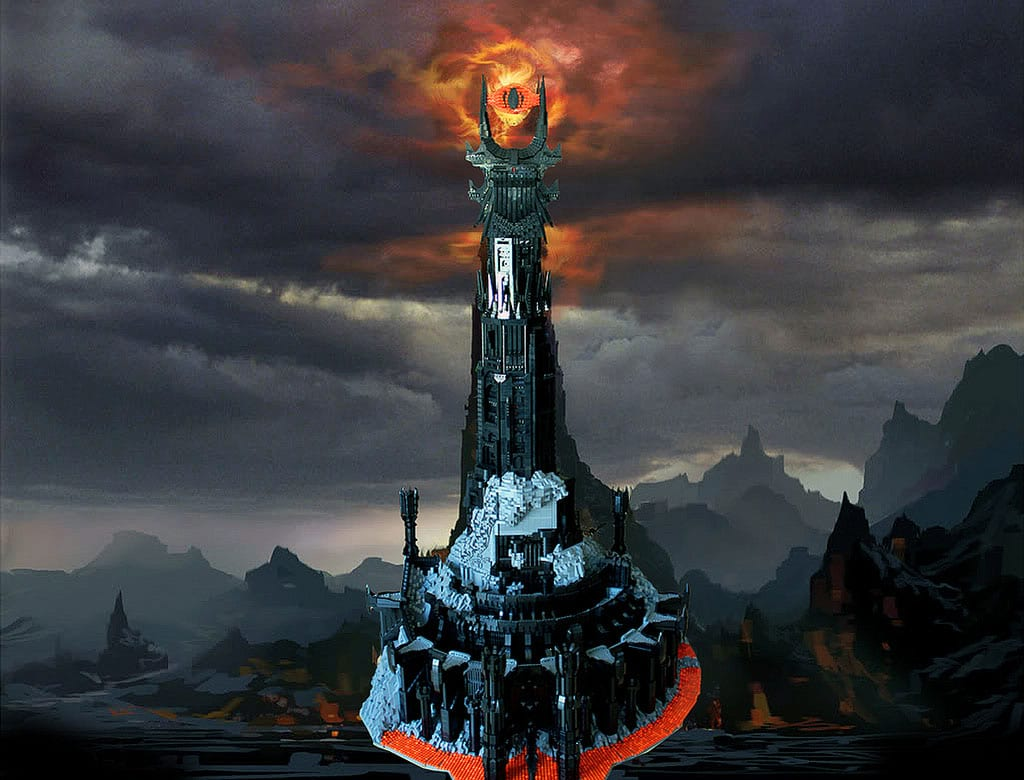 Epic Sauron Tower Recreated With 50,000 Lego Blocks