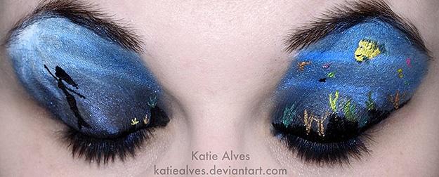 Eyelid Art: Nature & Movie Scenes Created On Eyelids