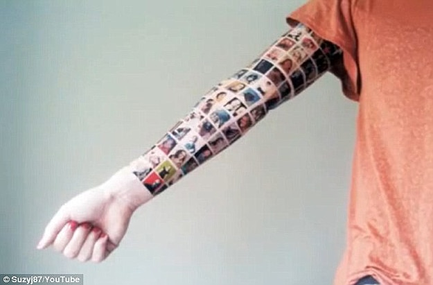 Social Media Tattoo: Put Facebook Friends On Your Arm