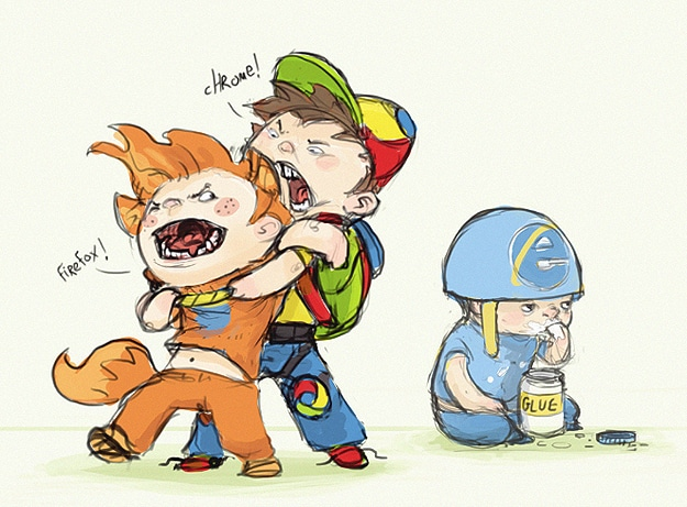Browser Wars: Your Favorite Browsers Illustrated