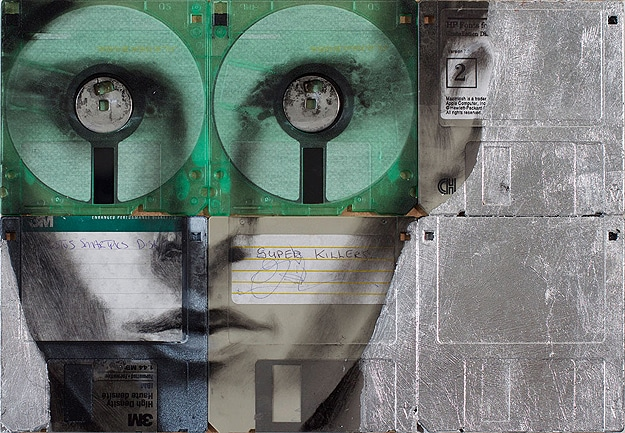 Retro Computer Disk Art