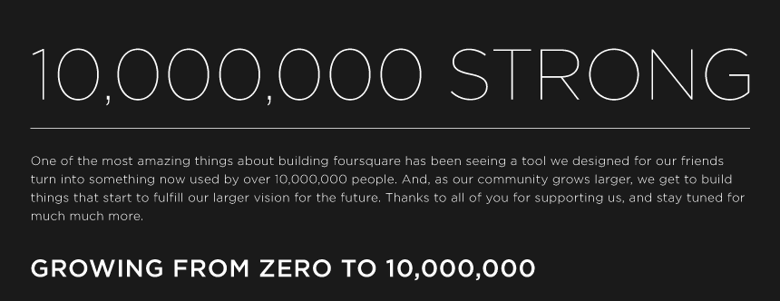 Foursquare Reaches 10 Million Members: The Animated Infographic