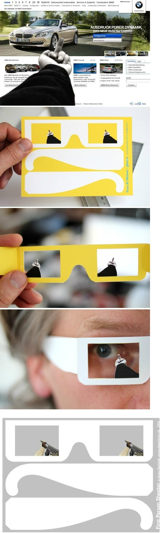 Giving Your Middle Finger Glasses