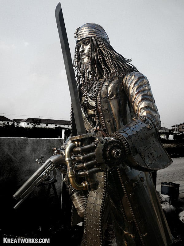 Jack Sparrow Steampunk Statue Design