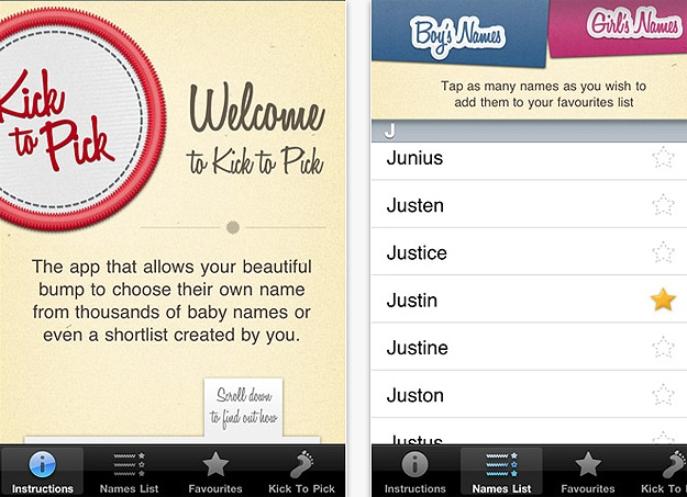 Kick To Pick App: Lets Unborn Babies Choose Their Own Name