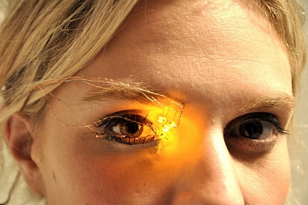 LED Eyeshadow: Now You Can Look Like A Cyborg